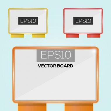 Vector illustration of billboards stock vector