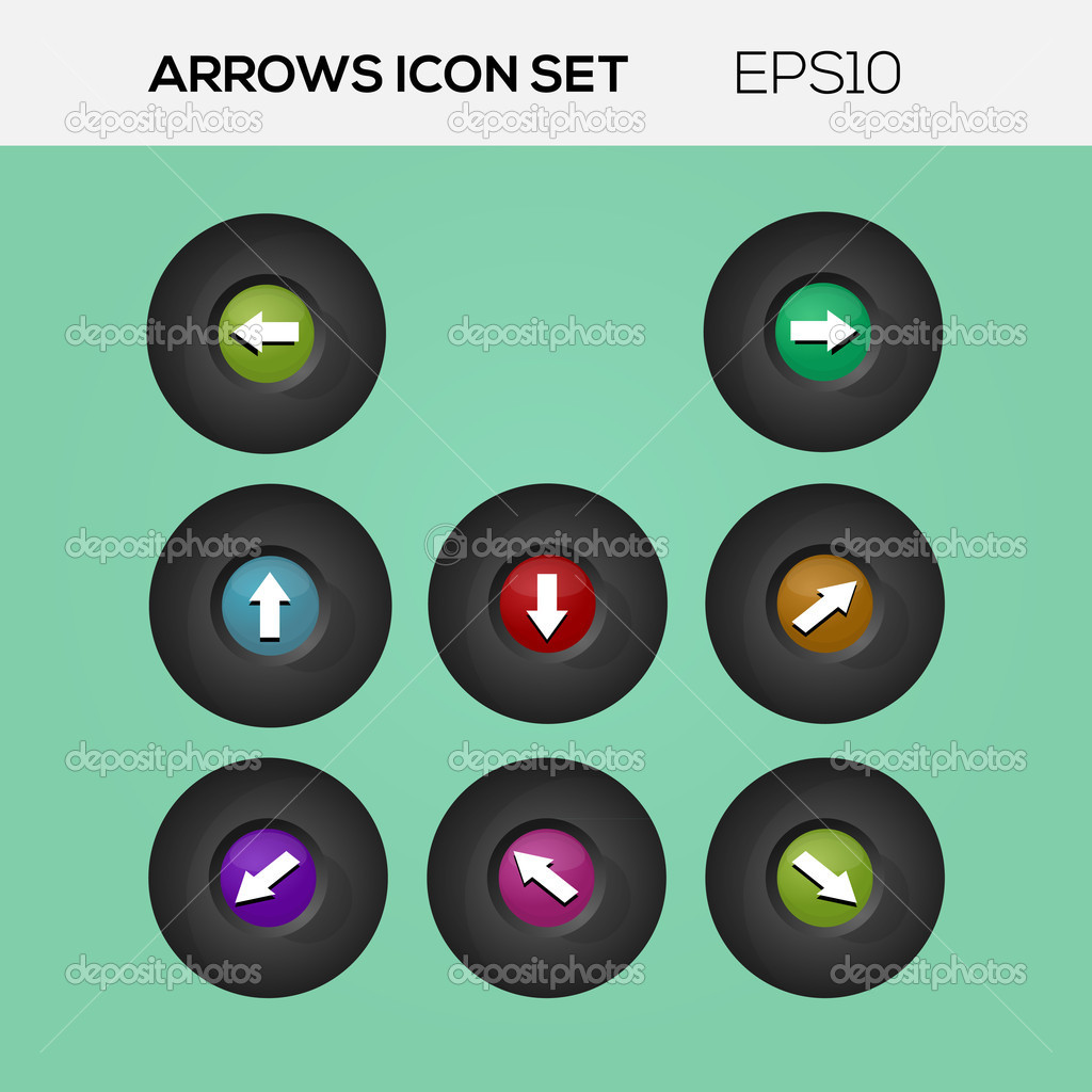 Set of arrows. Vector collection. stock vector