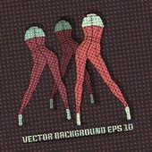 vektorové pozadí s ženské nohy.