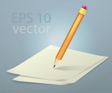 Vector papers and pencil stock vector