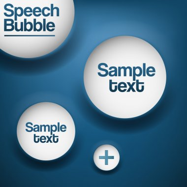 Abstract background with white bubbles. stock vector