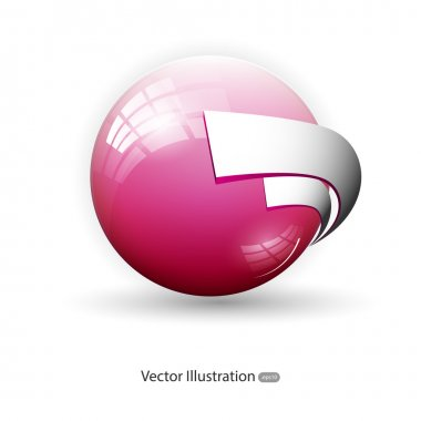 Vector background with pink sphere. stock vector