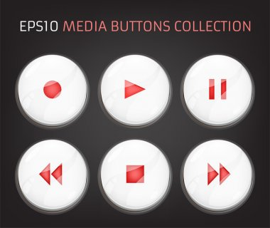 Web Elements: Buttons, Switchers, Player, Audio stock vector