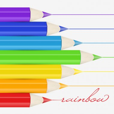 Vector background with pencils. stock vector