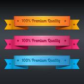 Vektorové kolekce stužky prvotřídní kvality