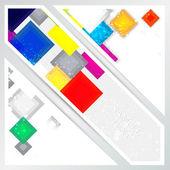 Vektor abstrakter Hintergrund mit Quadraten.