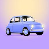Vintage classic car vector illustration