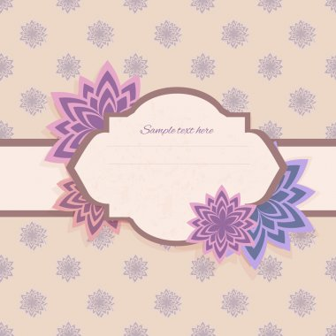 Vector floral background with frame stock vector