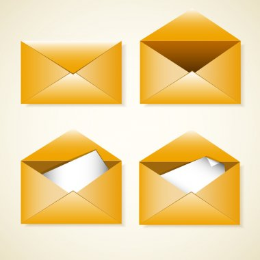 Vector set of envelopes stock vector