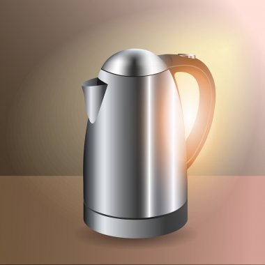 Electric kettle - vector illustration stock vector