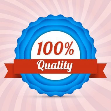 Vector hundred guarantee badge stock vector
