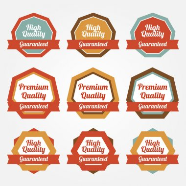 Set of vector stickers, badges, labels stock vector