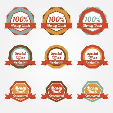 Set of vector sale stickers, badges, labels stock vector