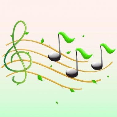 Summer musical banner.Vector stock vector