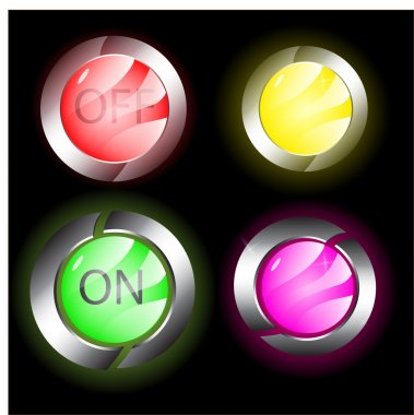 Vector on off buttons stock vector