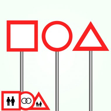 Blank road signs vector collection stock vector