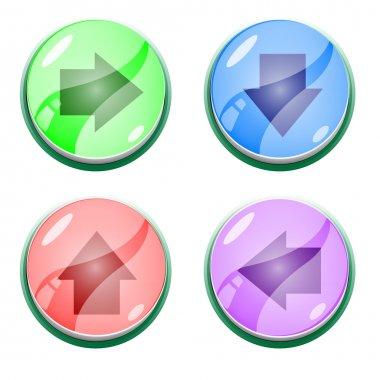 Vector arrow buttons,  vector illustration stock vector