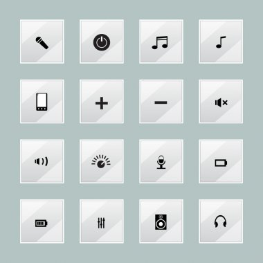 Multimedia media centre icons stock vector