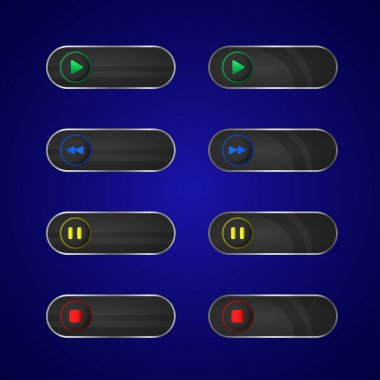 Media player buttons,  vector illustration stock vector