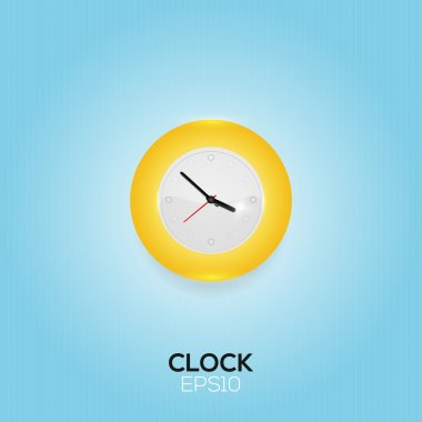 Vector clock on blue background stock vector