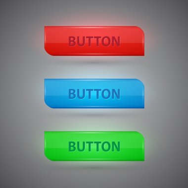 Set of colorful buttons. Vector Illustration stock vector