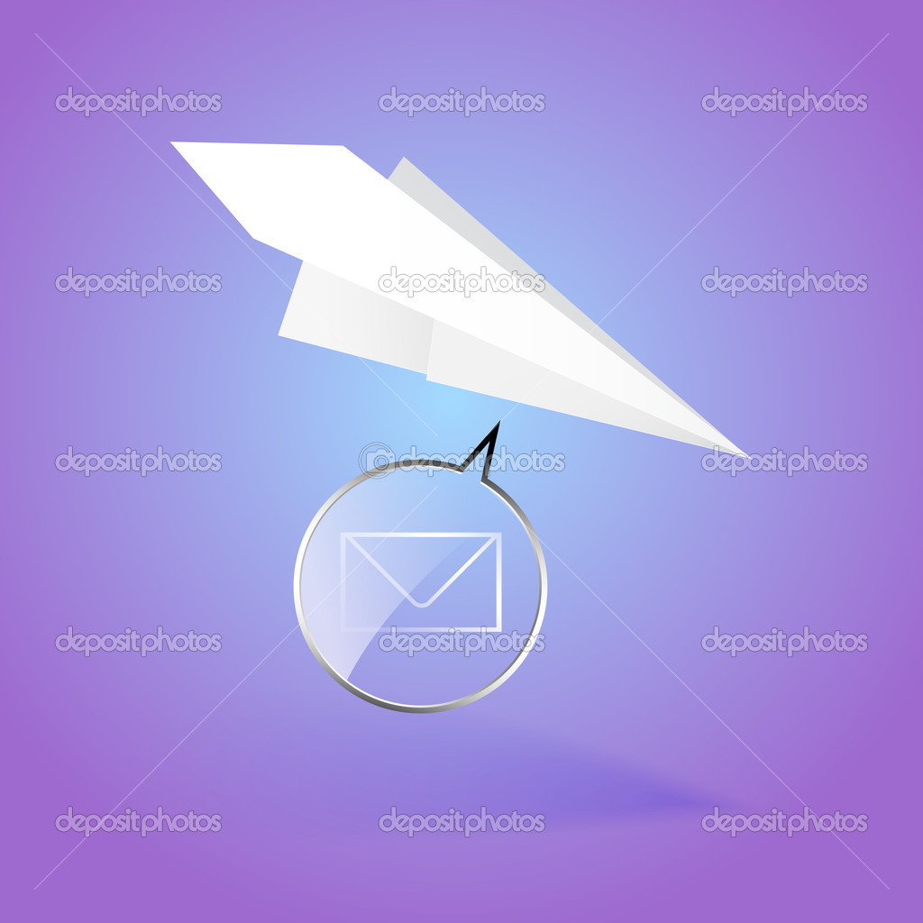 Paper airplane message vector illustration stock vector