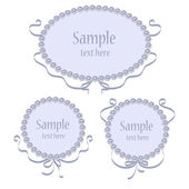 Set of vector greeting frames