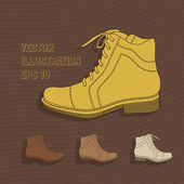 Vector background with shoes.