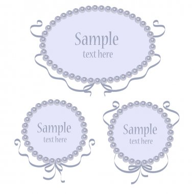 Set of vector greeting frames stock vector