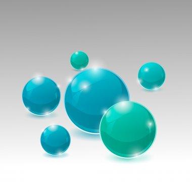 Vector bubbles background design art stock vector