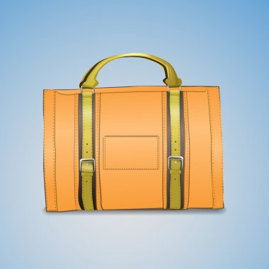 Vector illustration of leather briefcase stock vector