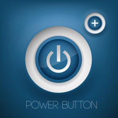 Vector power button. vector illustration stock vector