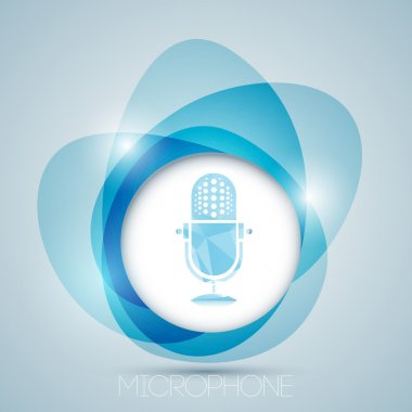 Vector icon with vintage microphone. stock vector