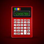 one Calculator. Vector illustration