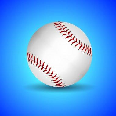 Vector baseball over blue background stock vector