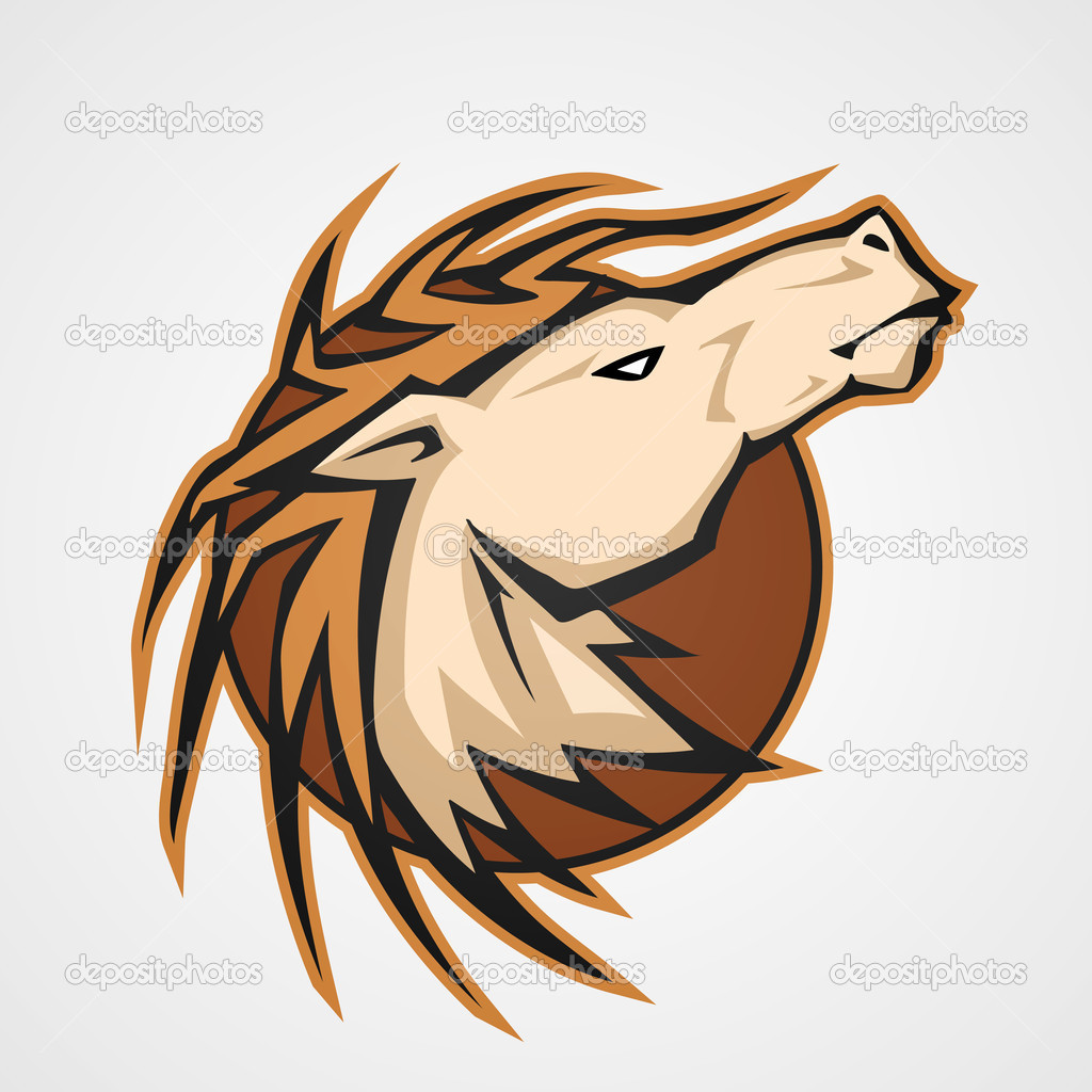 The stylized head of a horse. Vector stock vector