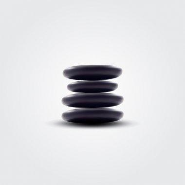 Vector spa stones,  vector illustration stock vector