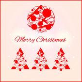 Karácsonyi design elemek. Vektoros illusztráció