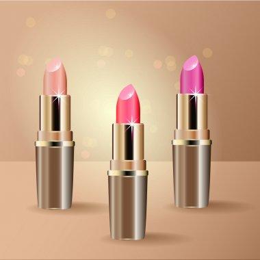 Red Lipsticks. Vector illustration. stock vector