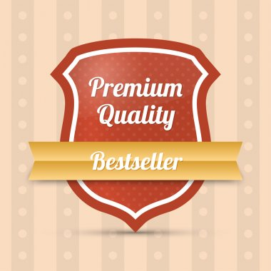 Premium quality shield - Bestseller stock vector