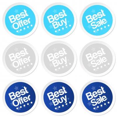 Best buy stickers. Vector stock vector