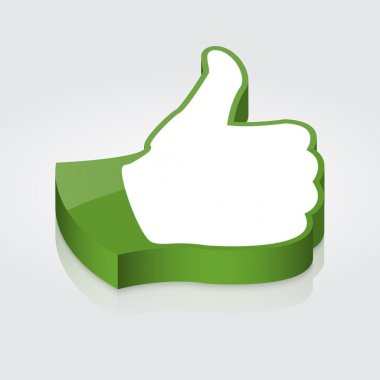 Thumb up icon. Vector stock vector