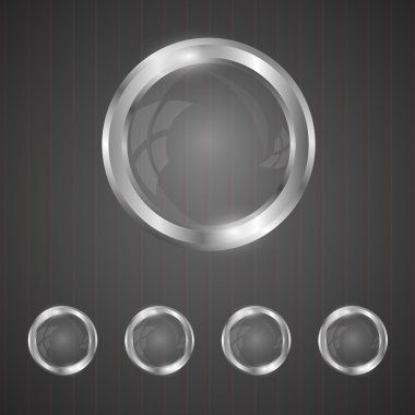 Glass silver buttons vector illustration stock vector