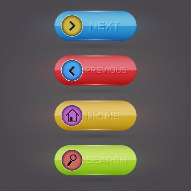 Web buttons.  vector illustration stock vector
