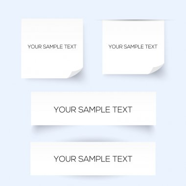 Set of four sheets of paper stock vector