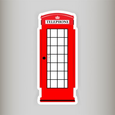 Phone booth, vector illustration stock vector