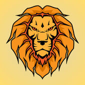 Head of a lion, vector illustration