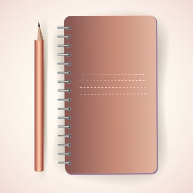 Vector pencil with notepad stock vector