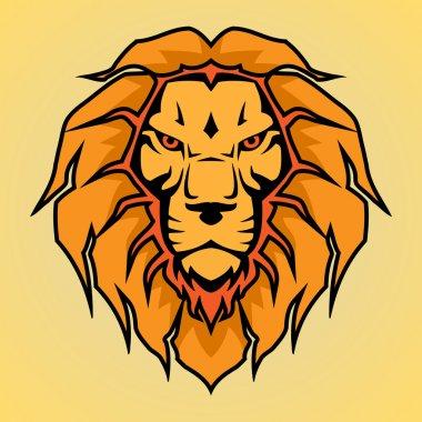 Head of a lion, vector illustration stock vector