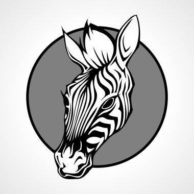 Head of a zebra, vector illustration stock vector